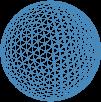 Glacier blue mesh sphere