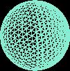 Lagoon blue mesh sphere