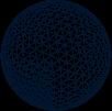 Midnight blue mesh sphere