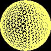 Yellow mesh sphere